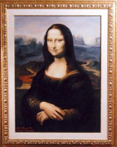 La Gioconda - Riproduzione, omaggio a Leonardo Da Vinci