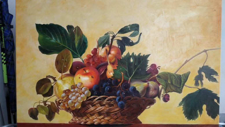 Olio su tela omaggio a Caravaggio